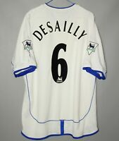 CHELSEA LONDON 2001 2003 AWAY FOOTBALL SHIRT JERSEY UMBRO #6 DESAILLY SIZE XXL