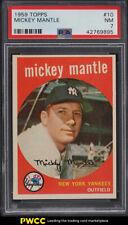 1959 Topps Mickey Mantle #10 PSA 7 NRMT
