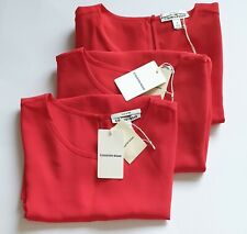 NEW COUNTRY ROAD Top, Size S,M,10,12 Women's Silk RED Scarlet TShirt TEE RP$139