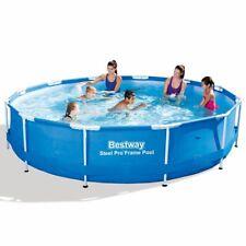 Bestway Schwimmbecken Stahlrahmen Rund 366x76cm Schwimmbad Swimmingpool Pool