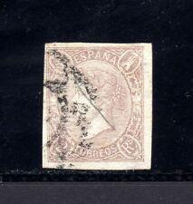 4465-ESPAÑA-SPAIN-ESPAGNE-1865.ISABEL II.Edifil Nº 73. 2 Reales.USED-Usado.