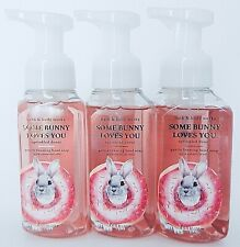 3 BATH & BODY WORKS SOME BUNNY LOVES YOU SPRINKLED DONUT GENTLE FOAMING SOAP NEW