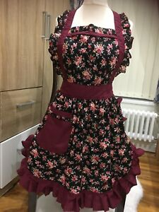 Beautiful Flowery Quality Retro Style Shabby Chic Vintage 50s 60s Full Aprons