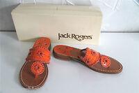 sandales oranges sandals JACK ROGERS size 36 eu 5 us 3 uk NEUVES/BOITE val 130€