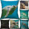 "18"" sea turtle Pattern Cotton Linen Pillow Case Throw Cushion Cover Home Décor"