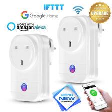 2G/3G/4G Wireless Smart WiFi Socket Timer Outlet Switch UK Plug For Amazon Alexa