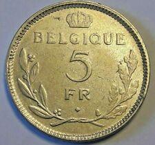 ==>>5 Francs Frank Nickel 1936 FR/ NL Leopold III Superbe Belgique Belgïe <<===