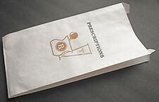 50 Generic 10x5x2 Paper Prescription Pharmacy Bags, RX Medication Drug Store Bag
