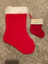 Christmas Stocking Red 18in With Mini 7in Stocking