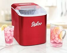 Igloo ICEB26RR 26-Pound Automatic Portable Countertop Ice Maker Machine, Red