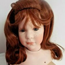 14 inch DOLLS WIG IN AUBURN 3/4 LENGTH WITH PULLED BACK FRINGE 01085 KATIE