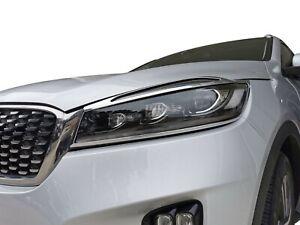Chrome Front Head Light Lamp Surrounding Garnish for Kia Sorento 2016-20 UM