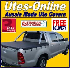 TOYOTA HILUX SR5 A-Deck DUAL CAB UTE TONNEAU SOFT COVER April 2005 to 2015