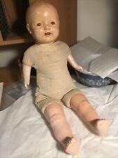 Eih Co Horseman doll vintage doll blinking eyes teeth dimples Cries