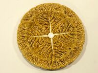 "Bordallo Pinheiro RARE Dark Yellow Cabbage Leaf 10.5"" Dinner Plate"