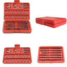 100pcs Chrome Security Bit Set Torx Hex Drill Star Spanner Phillips Screw Driver