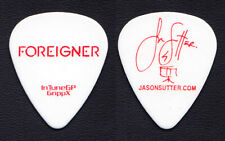 Foreigner Jason Sutter Signature White Guitar Pick - 2010 Tour
