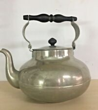 VINTAGE OLD BRASS SILVER PLATED TEAPOT HOMEDECOR