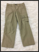 EDDIE BAUER Women's Shaw Fit Brown Cargo Casual Pants 100% Cotton Size 2