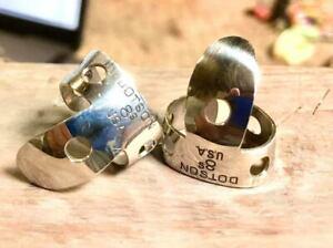 Dotson 8s Finger Picks set National Pat Pend Style Oval Duplicates Banjo Dobro
