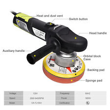 "6"" 900W Dual-Action Polisher Variable Speed Random Orbital Kit 2000-6400RPM Car"