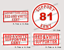 SUPPORT 81 KENT HELLS ANGELS ENGLAND Kent Stickers x4 BIG RED MACHINE WORLD