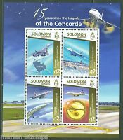 SOLOMON ISLANDS 2015 15th  ANNIVERSARY OF THE CONCORDE TRAGEDY SHEET  MINT NH