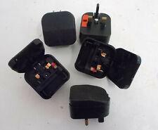 5x Power Connections Euro Plug to UK Plug Adaptor – ECP, Black