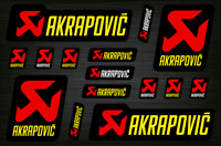 Akrapovic  Adesivi per decalcomanie Exhaust Set di grafica Stickers Decals /582