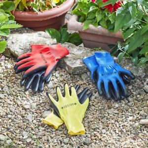 3 Pack Quality Briers Mens Ribbed Smart Grips Garden Gloves Large Comfort Grip