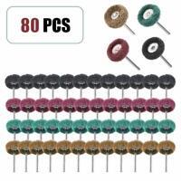 "80 PC 1"" (25mm) Abrasive Wheel Buffing Polishing Wheels fits Rotary Tools"
