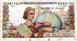 10 000 FRANCS GENIE FRANCAIS TYPE 1945