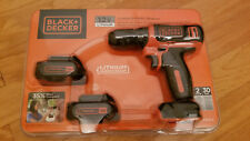 Black & Decker 12V Lithium Cordless Drill with 2 Lithium Ion Batteries  *NEW*
