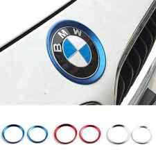 2pcs blue car hood front back logo decoration ring For BMW 3 series M3