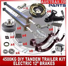 "4500kg DIY ELECTRIC TANDEM TRAILER KIT WITH 70MM COUPLING. 12"" ELECTRIC BRAKES"