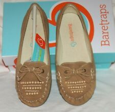 Baretraps Shoes 1.5M girls Pansy Style Tan Suede Slip on Mocossins NEW in box