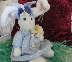"""BEARINGTON BUNNY """"EDY"""" COLLECTIBLE SERIES LIMITED 18""""NEW WITH TAGS & DUCKLING"""