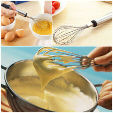 Handle Whisk Stainless steel Kitchen Mixer Balloon Wire Egg Beater Tool