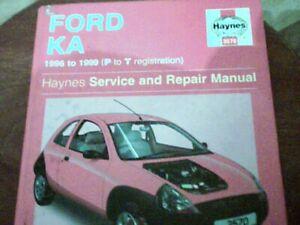 FORD KA 1996-2002[P REG ONWARDS] HAYNES  WORKSHOP MANUAL 2008 EDITION RED COVER