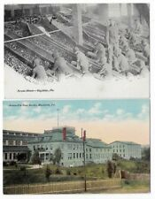 Early Postcards Hazleton Pa: 1908 Screen Room, Jeansville Iron Works
