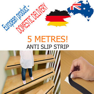 SELF ADHESIVE ANTI SLIP STRIP 5 meters slipping STAIRS LADDER RUNG Protection