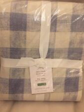 Pottery Barn Rhett Check Duvet Cover King/cal. King New Blue