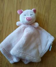 Baby Thro Security Blanket Pig Pink Infant Soft Girls Lovey NEW