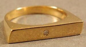 Amazing Ancient Roman Diamond Gold Silver Women's Ring Senatorial Wife Wearable