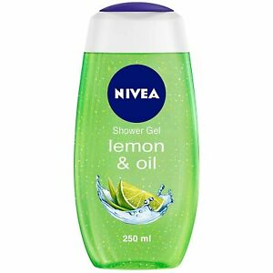 NIVEA Shower Gel, Lemon & Oil Body Wash, Women, For Fresh Skin 250ml