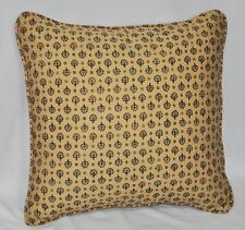 "Pillow made w Ralph Lauren Northern Cape Foulard Cotton Fabric 16"" self cording"
