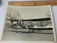 Original WWII 1950s Photo USAAF Air Force Pilot PT-17 Aircraft Biplane Plane 3