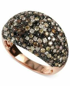 $7750 / NEW  / EFFY Confetti 3 CT Multi-Color Diamond Dome Ring / 14K / Luxury
