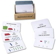 Arbeitskartei mathematischen Würfel 100 Karten, Montessorimaterial z. Freiarbeit