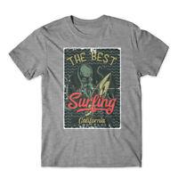 surfing_octopus2_4 T-Shirt 100% Cotton Premium Tee New